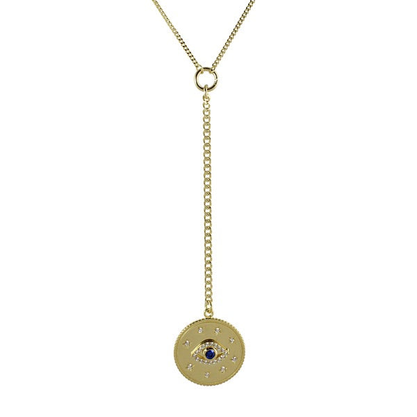 EVIL EYE MEDALLION LARIAT