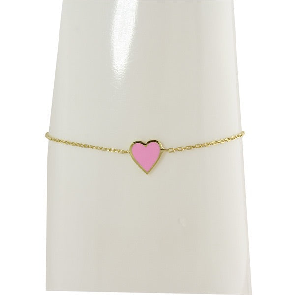 SINGLE ENAMEL HEART BRACELET