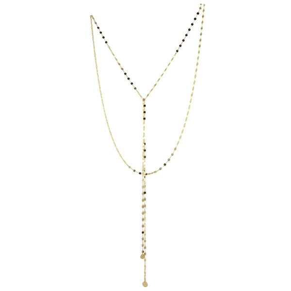 long double strand lariat