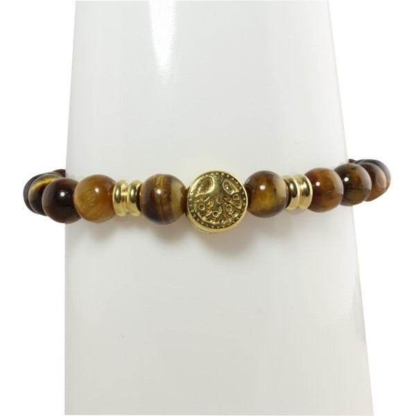 TIGERS EYE TREE OF LIFE BRACELET