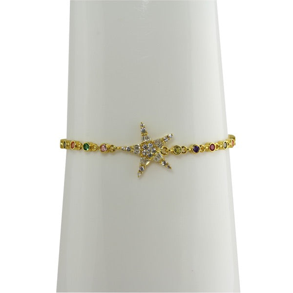 STAR RAINBOW TENNIS BRACELET