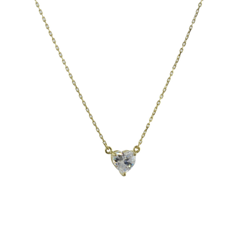 SOLITAIRE HEART NECKLACE