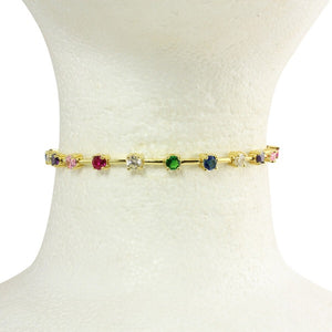 RAINBOW BAR CHOKER