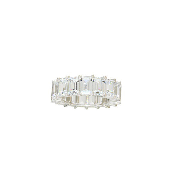 EMERALD CUT ANNIVERSARY BAND - adammarcjewels