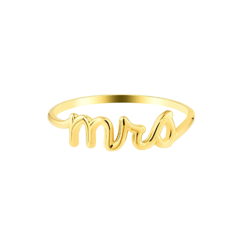 MRS gold ring