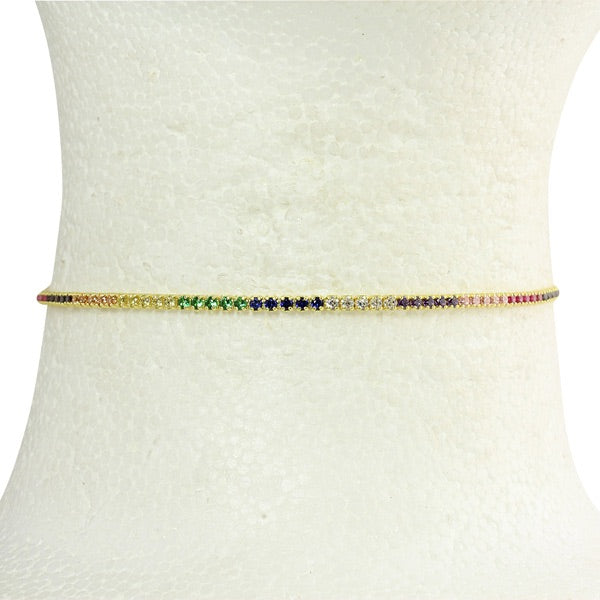 THIN RAINBOW CHOKER