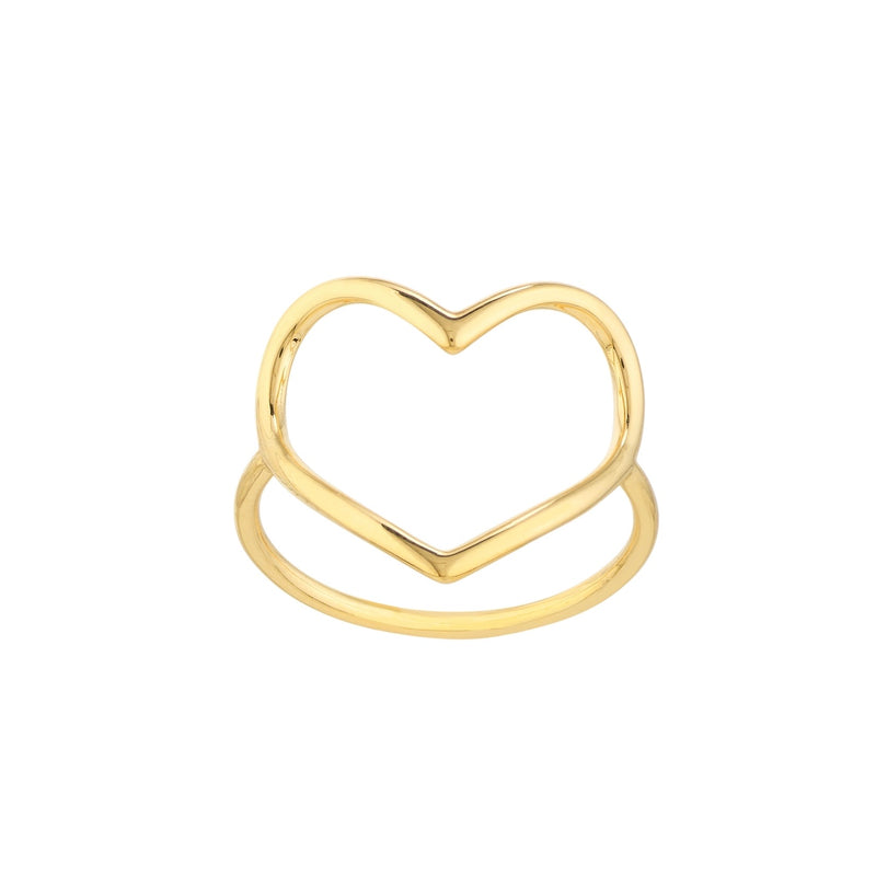 14K OPEN HEART RING