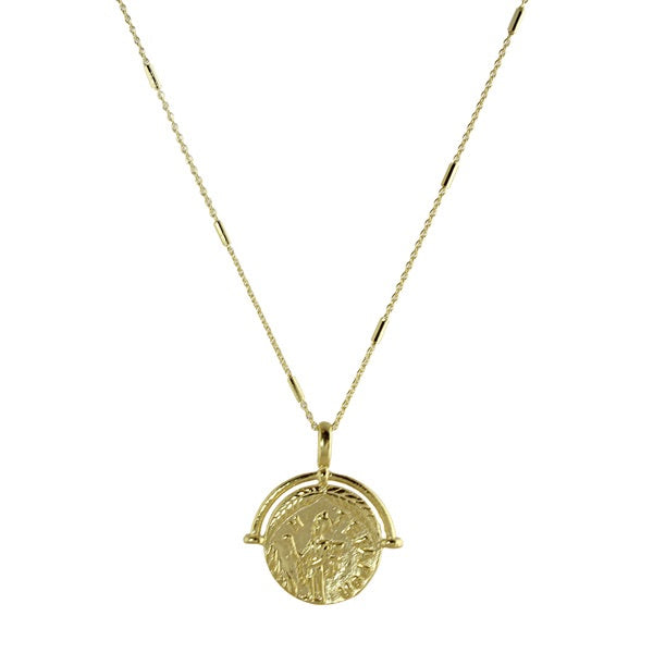 SEMI FRAMED COIN NECKLACE