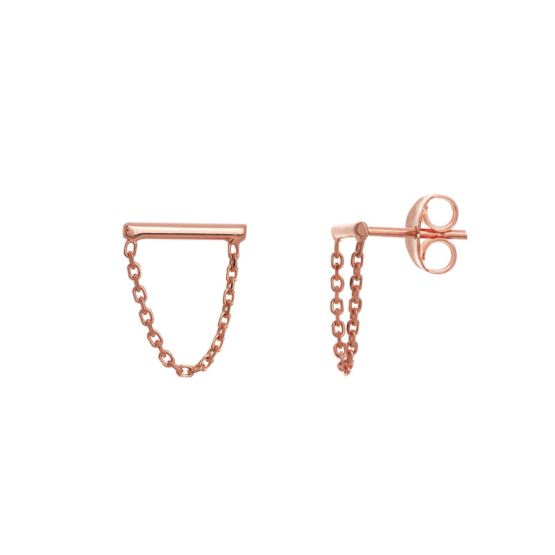 MINI BAR & DROP CHAIN 14k