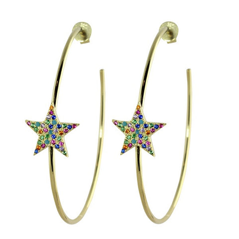 BIG STAR HOOPS - adammarcjewels