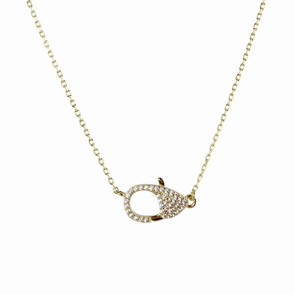 PAVÈ LOBSTER LOCK NECKLACE