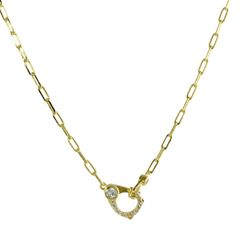 LOBSTER LOCK LINK NECKLACE