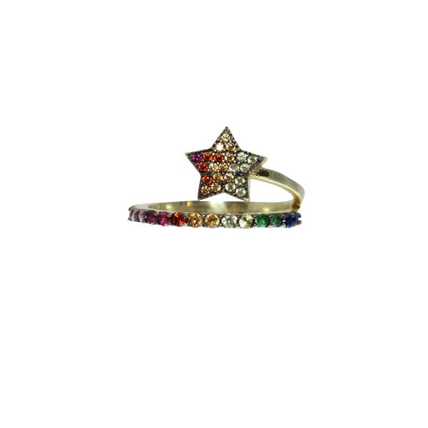 RAINBOW WRAP STAR RING