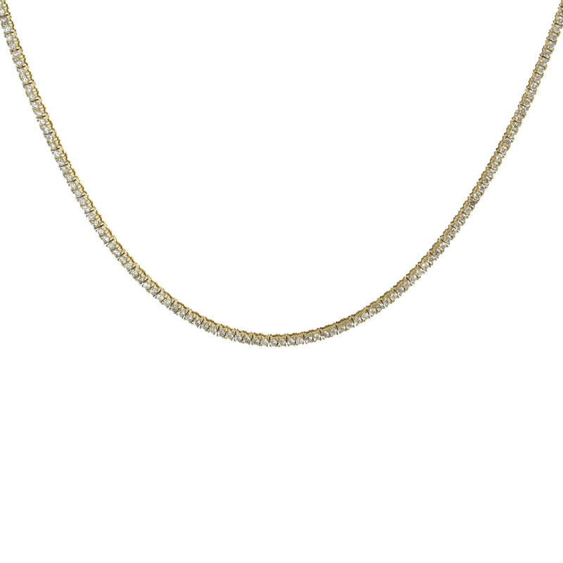 14K PETIT DIAMOND TENNIS NECKLACE
