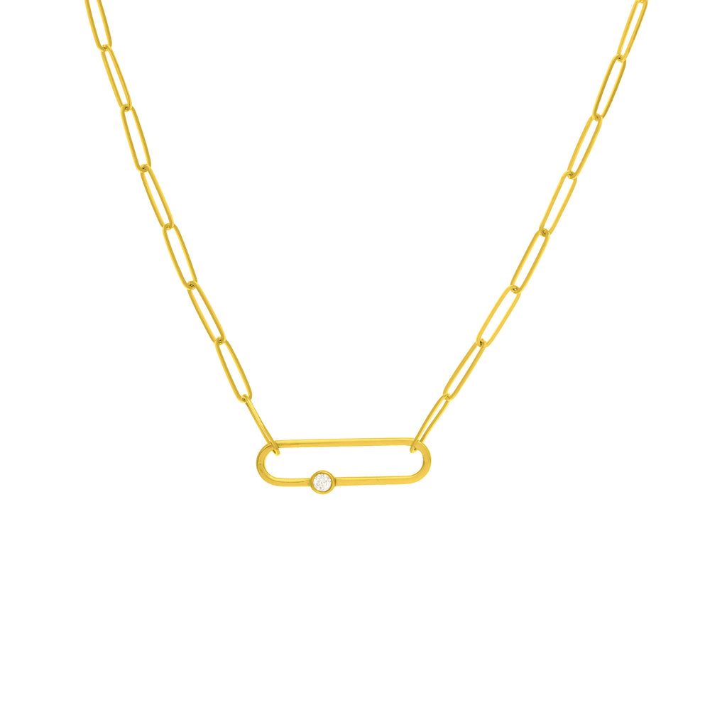 14k paperclip necklace