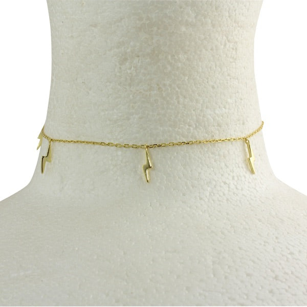 LIGHTENING BOLT CHOKER