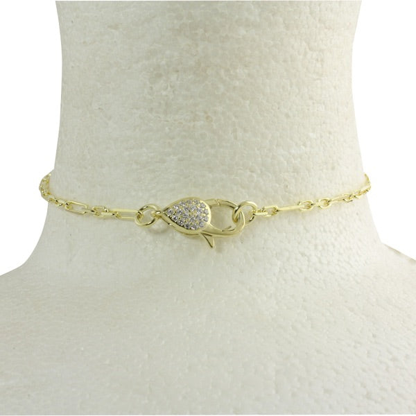 PAVÈ LOBSTER LOCK CHOKER NECKLACE