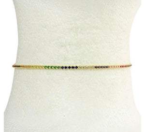 COLOR TENNIS CHOKERS - adammarcjewels