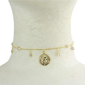 MINI MEDALLION CHOKER CHAIN