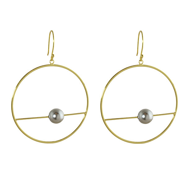 DOOR KNOCKER HOOPS WITH PEARL