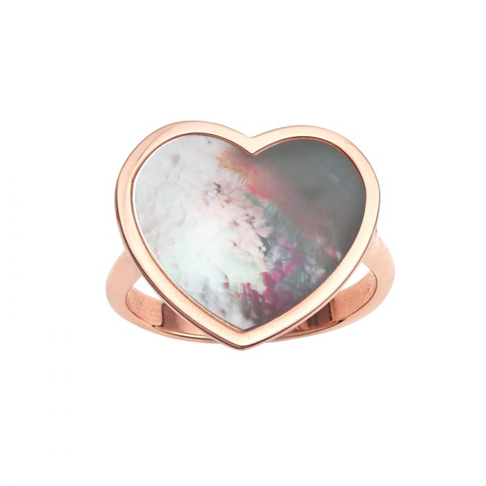 rose gold heart ring