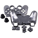 ModFreakz® Shell/button Kit Chrome Collection Gun Metal Grey (NOT A CONTROLLER, For PS3 Controllers)