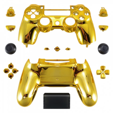 ModFreakz® Shell/Button Kit Chrome Collection - Gold For PS4 Gen 4,5 V2 Controller