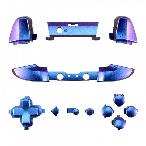 ModFreakz® Full Button Set Satin Cameleon Blue Purple For Xbox One Model 1708 Controllers