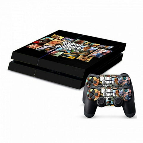 ModFreakz® Console/Controller Vinyl Skin Set - Auto Thief Car Crime for PS4 Original - Mod Freakz