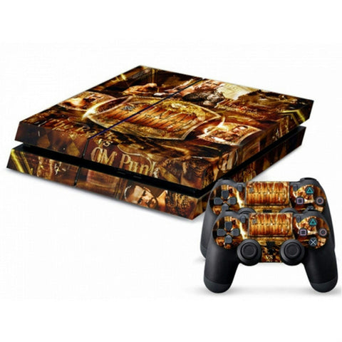 Official Website Ps4 Slim Sticker Console Decal Playstation 4 Controller Vinyl Skin Cm Punk Faceplates, Decals & Stickers