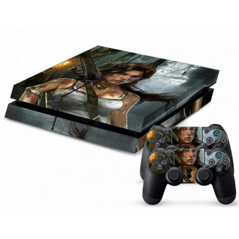 ModFreakz® Console/Controller Vinyl Skin Set - Bow Girl Fighter Tomb Raider for PS4 Original - Mod Freakz