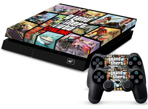 ModFreakz® Console/Controller Vinyl Skin Set - Auto Crime Freedom for PS4 Original - Mod Freakz