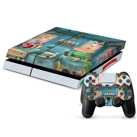 ModFreakz® Console/Controller Vinyl Skin Set - Cute Fluffy Criminal Usavich for PS4 Original - Mod Freakz