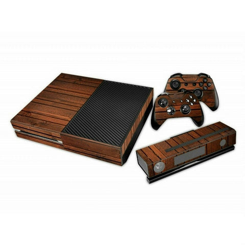 ModFreakz® Console/Controller Vinyl Skin Set - Aged Rough Wood Texture for Xbox One Original - Mod Freakz