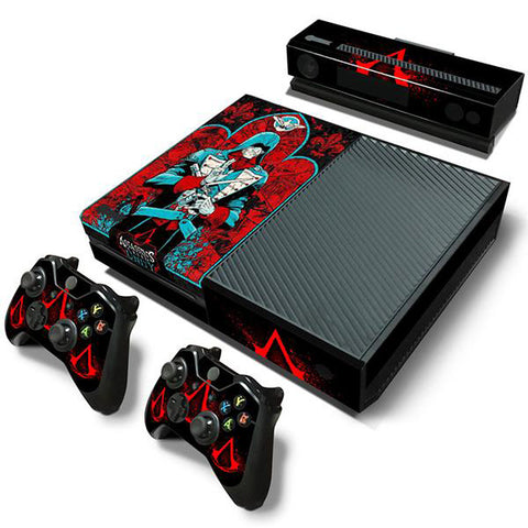 ModFreakz® Console/Controller Vinyl Skin Set - Blue Suit Red Hoods for Xbox One Original - Mod Freakz