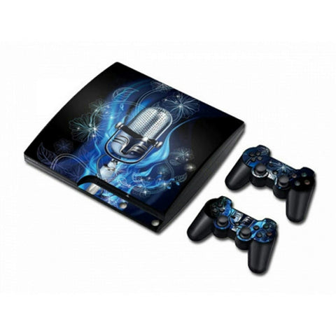 MODFREAKZ™ PS3 Console and Controller Vinyl Skin Set - Singing Microphone