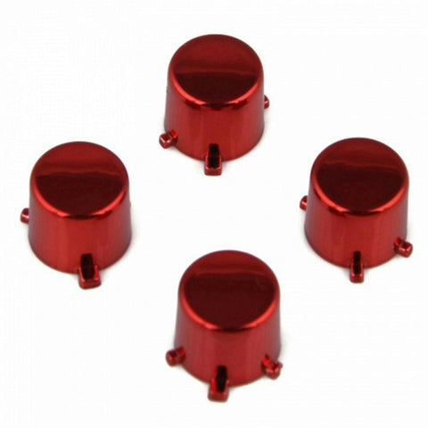 ModFreakz® 4 Button Set Chrome Red Fits All PS4/PS3 Controllers - Mod Freakz