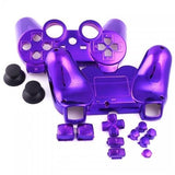 ModFreakz® Shell/button Kit Chrome Collection Purple (NOT A CONTROLLER, For PS3 Controllers)