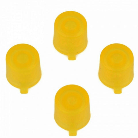 ModFreakz® 4 Button Set Clear Yellow Fits All PS4/PS3 Controllers - Mod Freakz