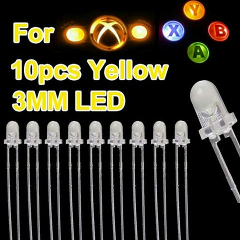 ModFreakz® 3MM LED Backlights Yellow 10 Count For Xbox 360 Controller - Mod Freakz