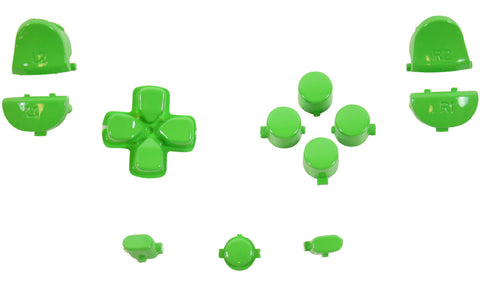 ModFreakz® Button Set Dpad Share Polished Green For PS4 Gen 1,2 V1 Controller - Mod Freakz