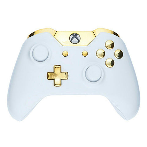 ModFreakz™ Shell/Button Kit Arctic Collection - Arctic Gloss White Gold For Xbox One Model 1697 Controllers