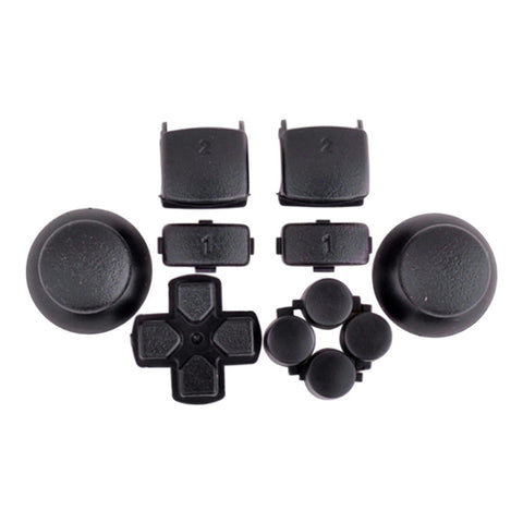 Mod Freakz PS3 Thumbsticks Dpad L1/R1 L2/R2 Triangle Square Circle X Button Set Solid Black - Mod Freakz