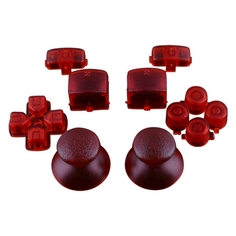 Mod Freakz PS3 Thumbsticks Dpad L1/R1 L2/R2 Triangle Square Circle X Button Set Trans Red - Mod Freakz
