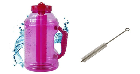 Cool Gear EZ Freeze 75 Ounce Water Bottle (FREE Straw Brush and Sport Drink Recipe) (Pink)