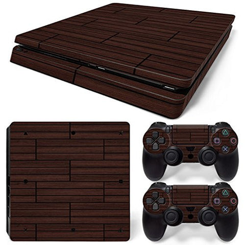 ModFreakz® Console/Controller Vinyl Skin Set - Wood Blocks for PS4 Slim