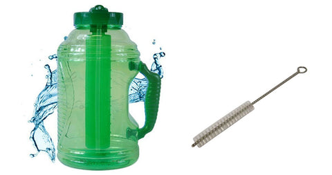 Cool Gear EZ Freeze 75 Ounce Water Bottle (FREE Straw Brush and Sport Drink Recipe) (Green)