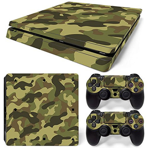 ModFreakz® Console/Controller Vinyl Skin Set - Woodland Camo for PS4 Slim