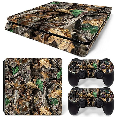ModFreakz® Console/Controller Vinyl Skin Set - Leaf Tree Camo for PS4 Slim