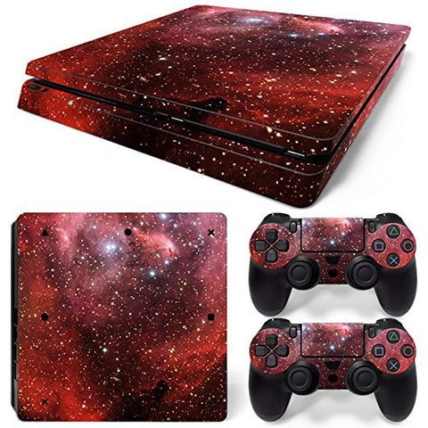 ModFreakz® Console/Controller Vinyl Skin Set - Red Star Space for PS4 Slim